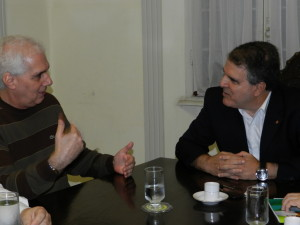 Secretário Edmur Mesquita e Ademir Pestana, presidente da SPB