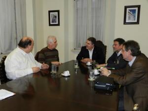Dr. Mário Cardoso, Edmur Mesquita, Ademir Pestana, Artur Domingues e Oswaldo Ramos Jr.