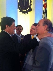 Davi Uip, Diretor Mario Cardoso e o Presidente Ademir Pestana