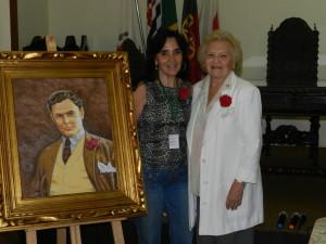 Diretora Maria de Lourdes e Maria Araújo