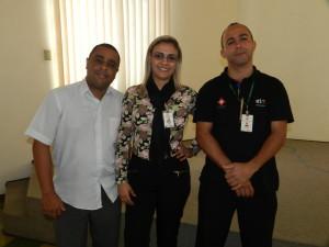 Equipe SESMT da SPB: Alexandre de Almeida Matias, Juliana de Souza Morado e Jurandir Fortunato Joaquim